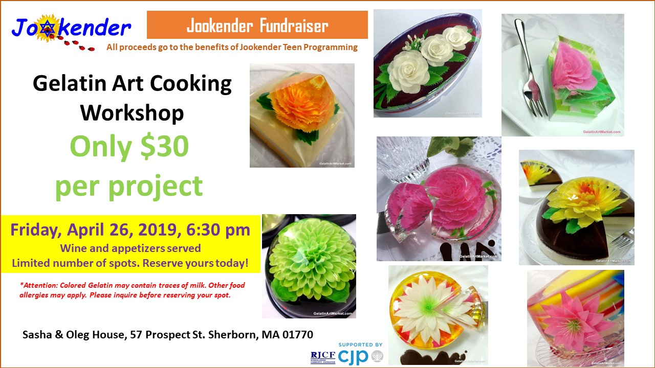 Gelatin Art Cooking Workshop - Jookender Fundraiser