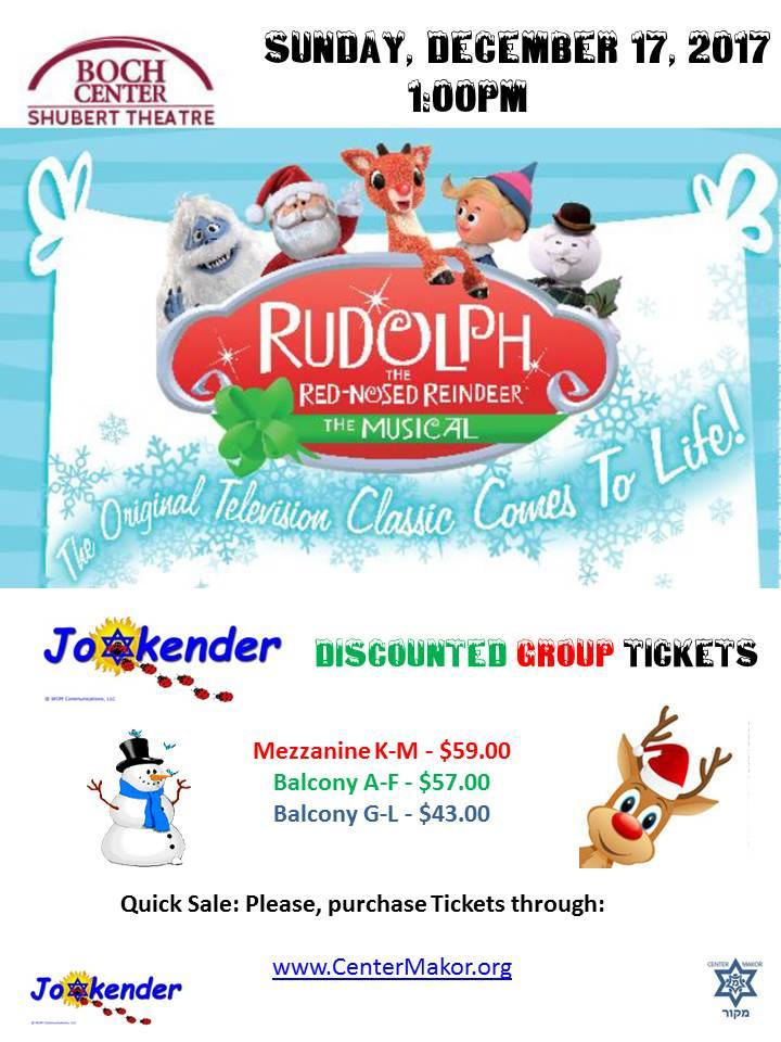 Jookender Discount: Rudolph the Red-Nosed Reindeer Musical