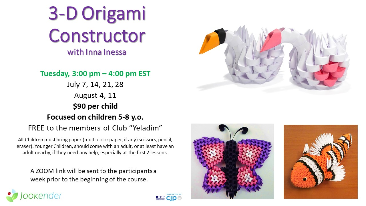 3D Origami Constructor for 5-8 y.o.