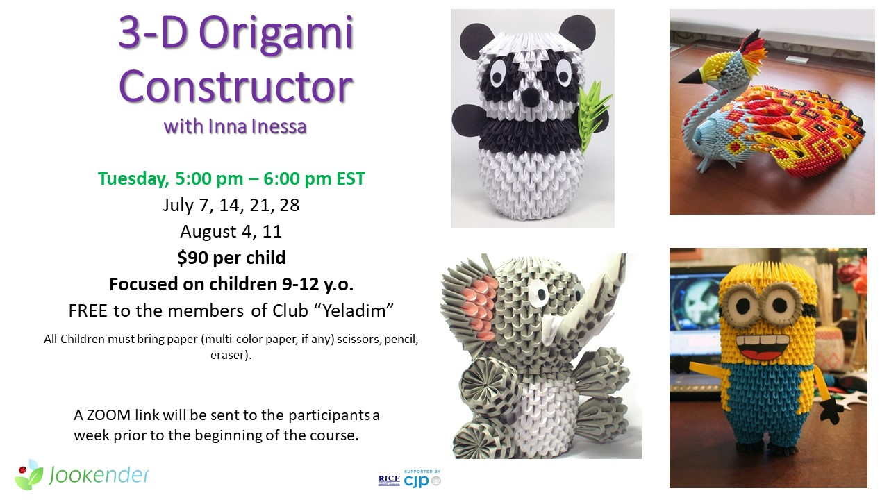 3D Origami Constructor for 9-12 y.o.