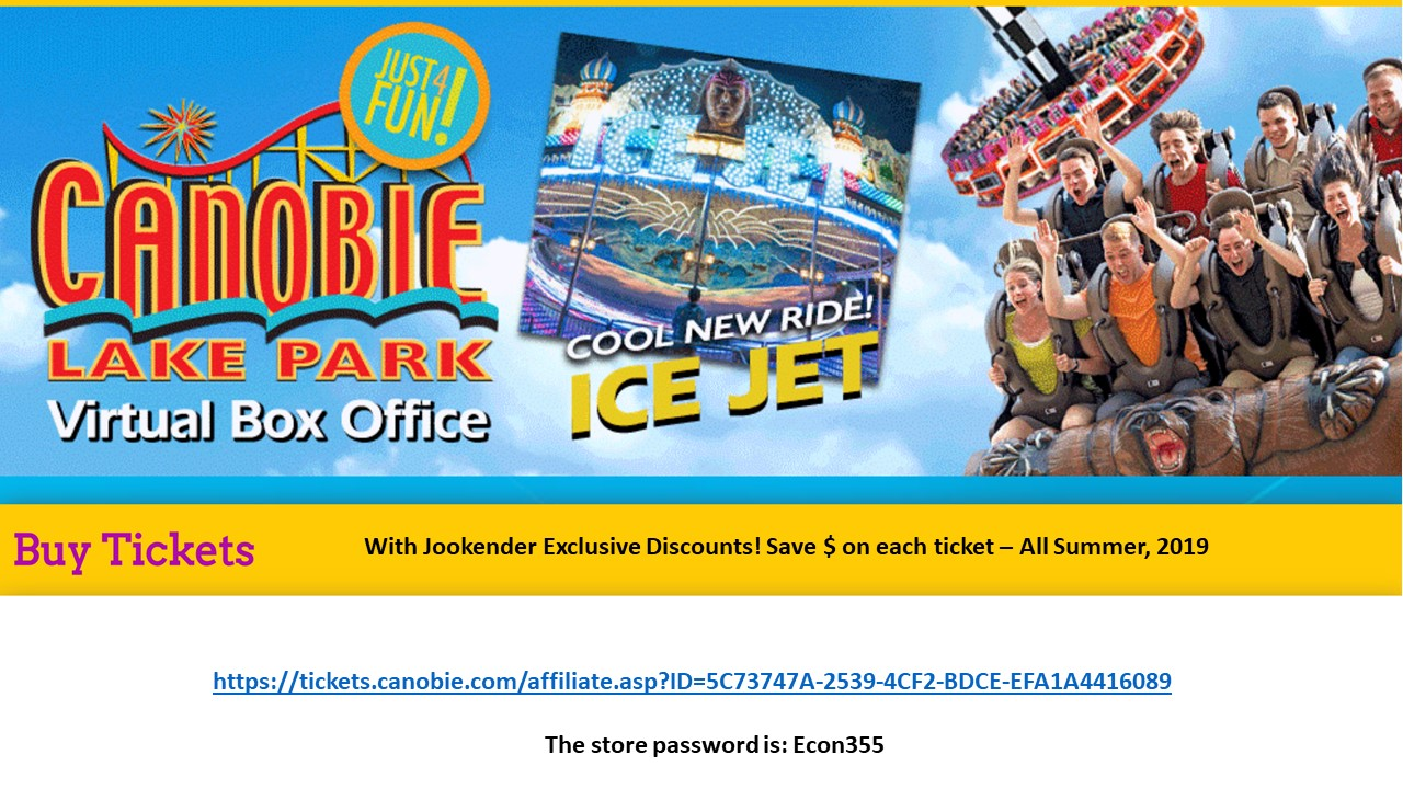 Jookender discount to Canobie Lake
