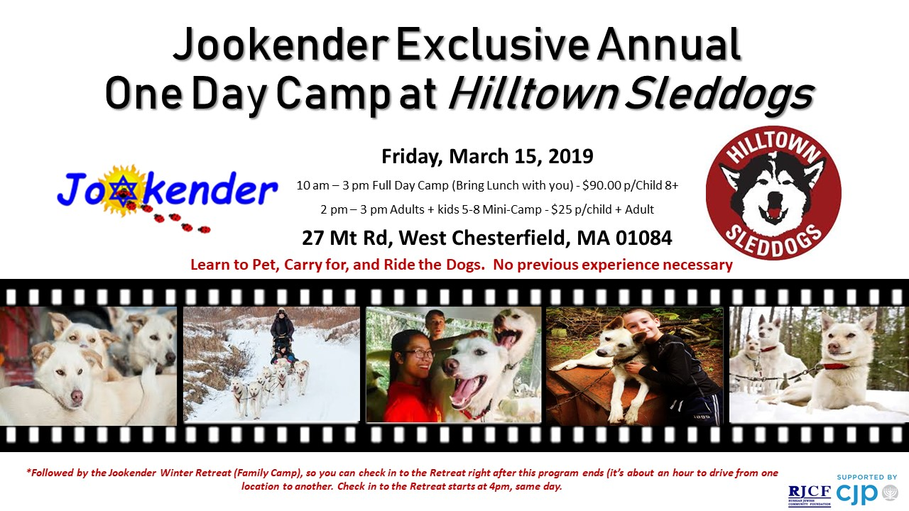 Jookender Exclusive Annual One Day Camp at Hilltown Sleddogs