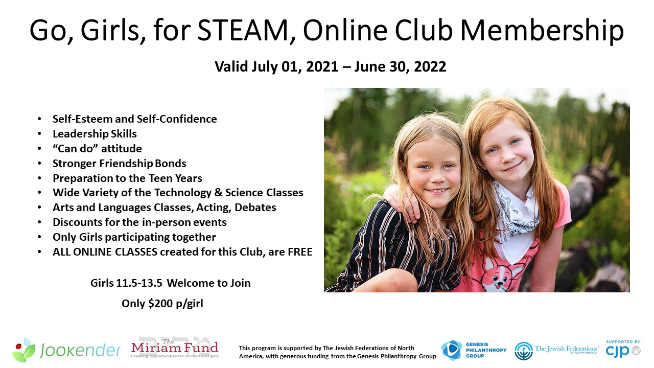 Go, Girls, for STEAM (11.5-13.5 y.o.)