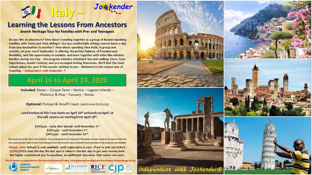 Independent with Jookender! - Italy - Learning the Lessons from Ancestors