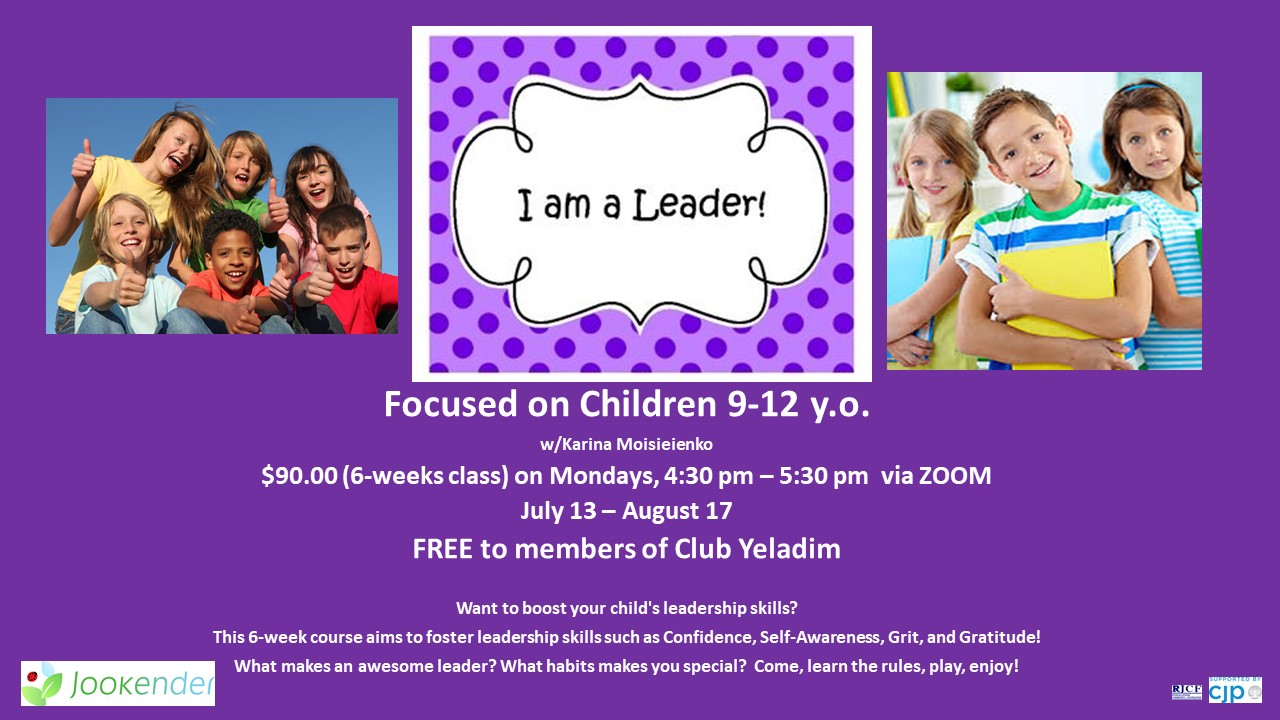 I am a Leader for 9-12 y.o.