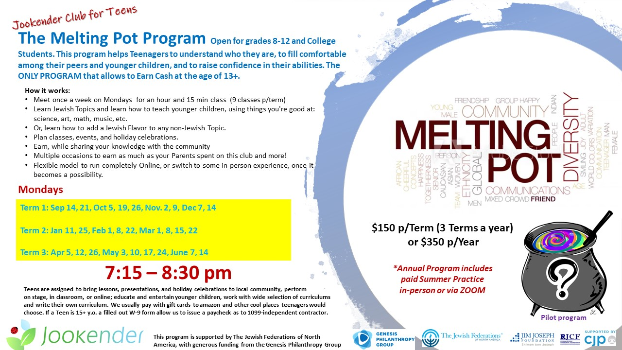 The Melting Pot, Learn and Earn program for Teenagers