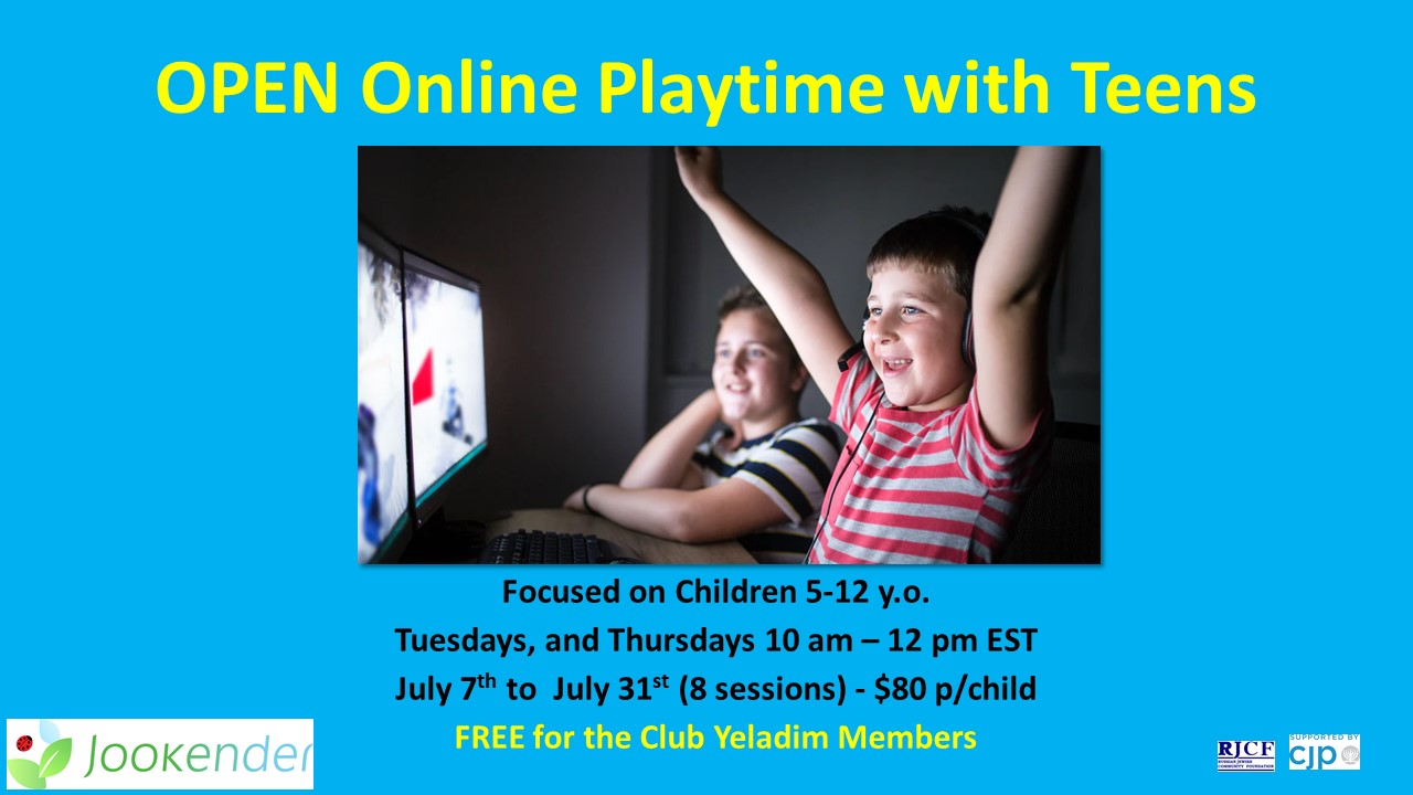 Open Online Playtime with Teens for 5-12 y.o.