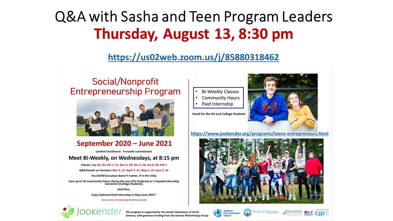 Q&A with Sasha and Teen Program Leaders