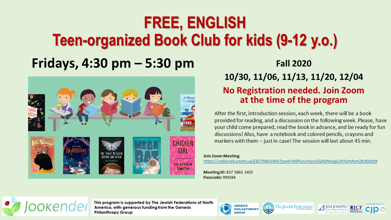 Teen-organized Book Club for Kids
