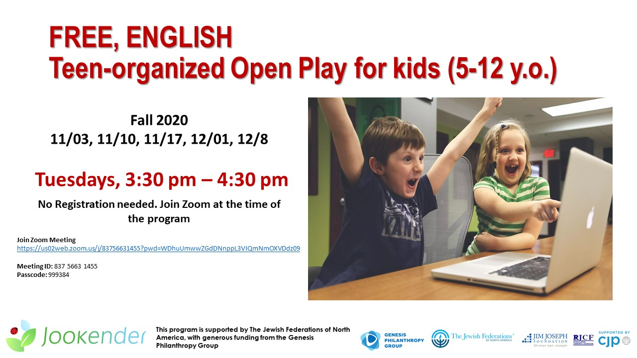 Teen-organized Open Play for Kids