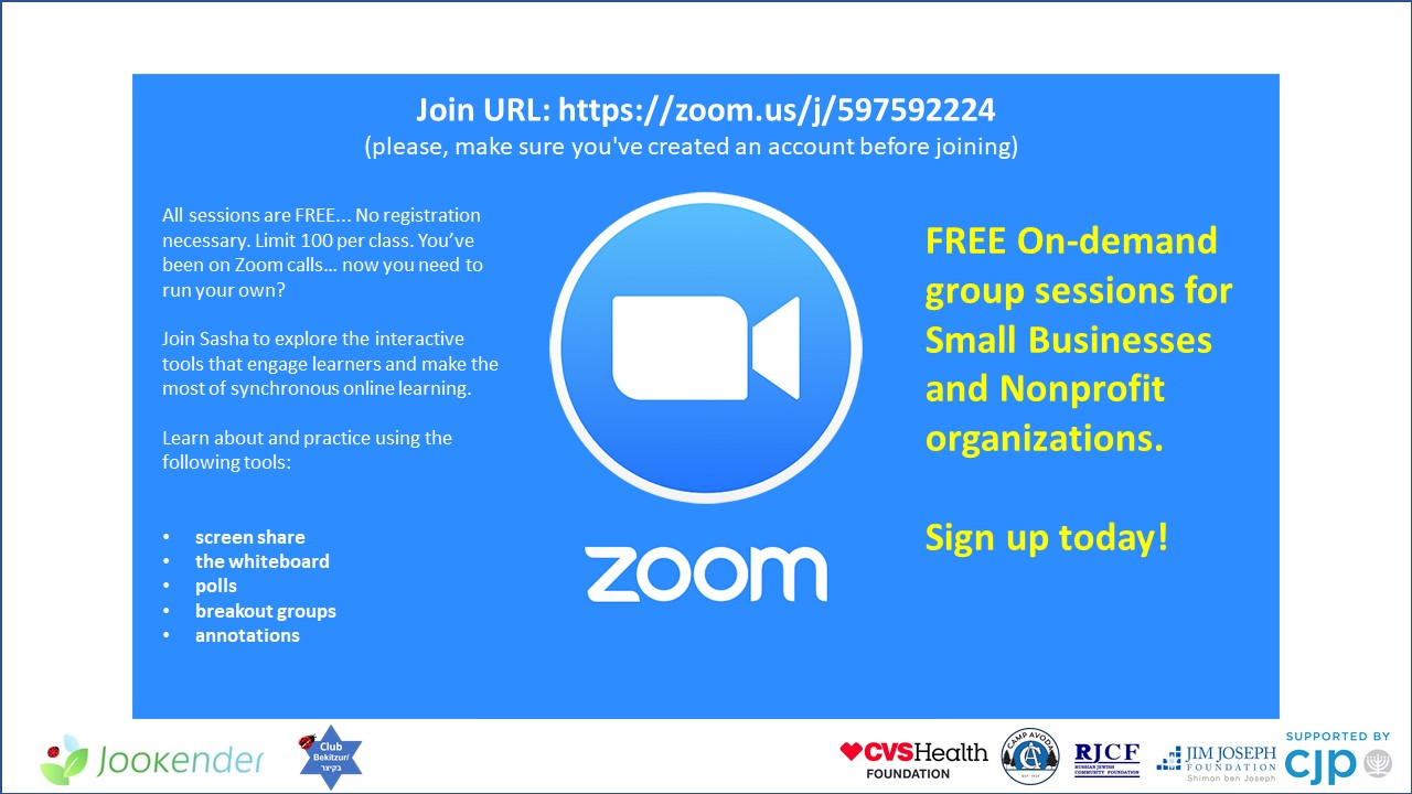 Free On-Demand Group Zoom Sessions