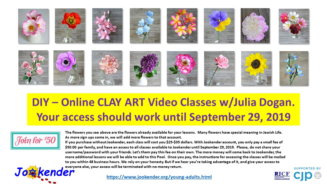 Online CLAY ART Video Classes with Yulia Dogan